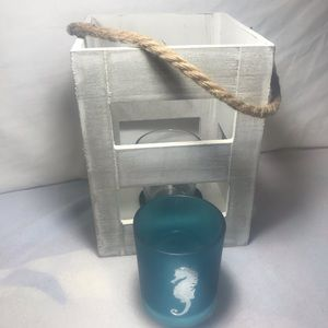 Real Wooden Candle Box W/Rope NWT OBO